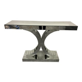 Modern Venetian Style Mirrored Console Table