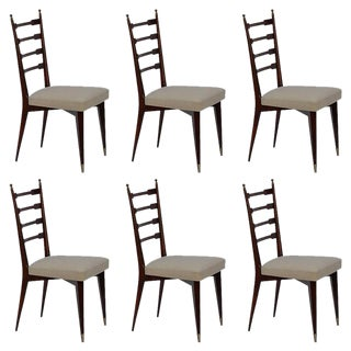 Mid-Century Italian Dining Chairs- Set of 6 For Sale