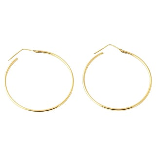 20th Century Italian 18k Gold Hoop Earrings - a Pair For Sale