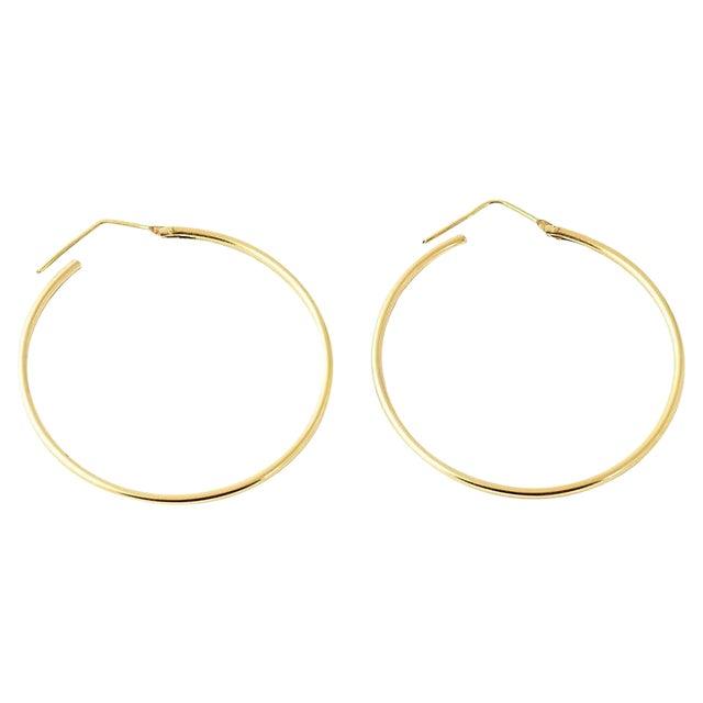 20th Century Italian 18k Gold Hoop Earrings - a Pair For Sale