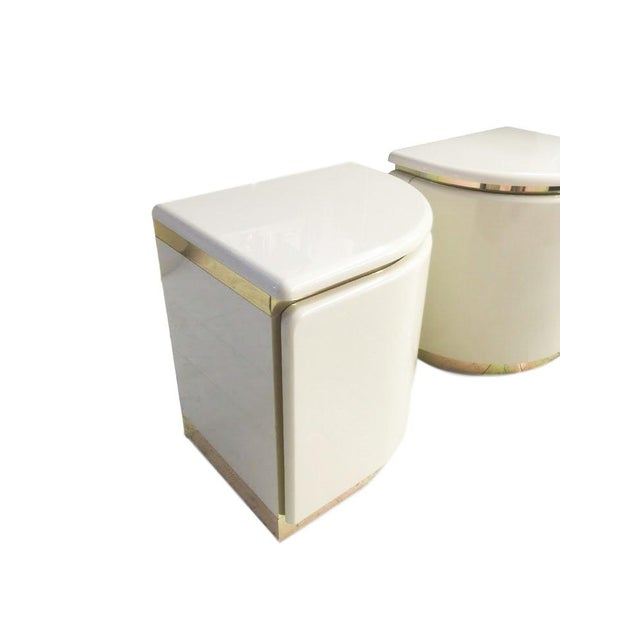 1960s White Italian Nightstands - A Pair - Image 2 of 3
