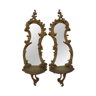 Syroco Wall Sconces - A Pair For Sale