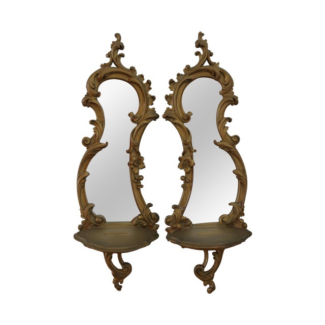Syroco Wall Sconces - A Pair - Image 1 of 3