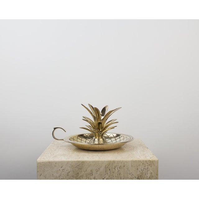 Brass Pineapple Candlestick Lamp Holder For Sale - Image 10 of 10