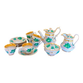 European Porcelain Tea - Set of 13pcs For Sale
