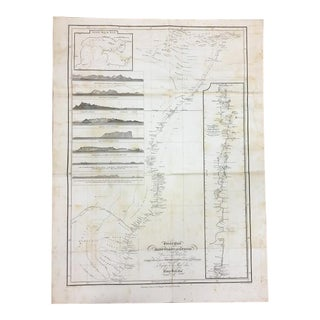 1809 Antique Nautical East Africa Map For Sale