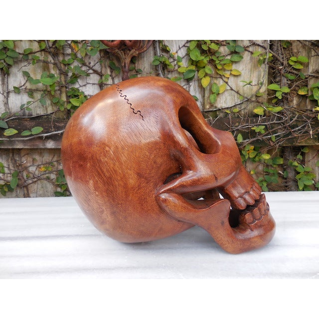 Contemporary Wood Skull - Image 6 of 7