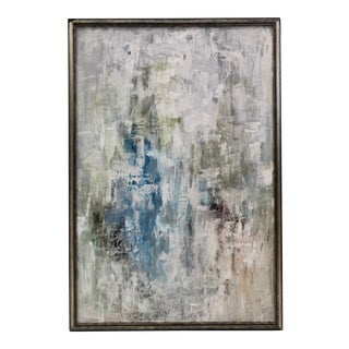 """""""Blue Cascade"""" Abstract Painting, Framed For Sale"""