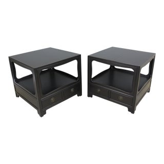 Mid-Century Original Baker Nightstands, A Pair
