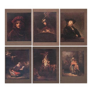 Rembrandt Lithographs by M. Menpes - Set of 6 For Sale