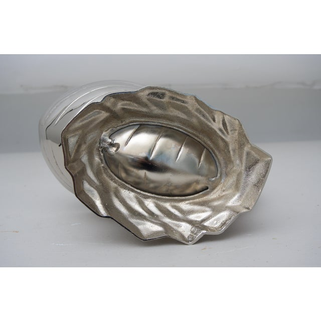 Nickle Plated Nautilus Shell Cachepot For Sale - Image 4 of 6