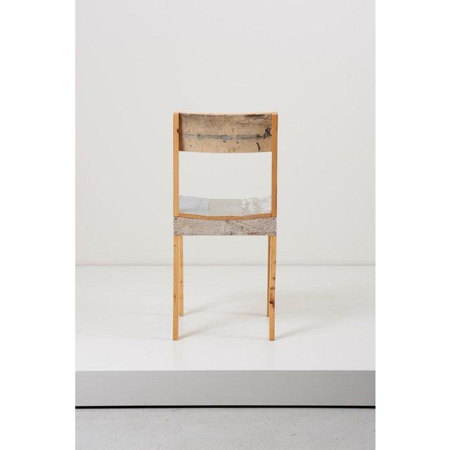 Piet Hein Eek Set of Four Lacquered Oak Chairs in Scrapwood by Piet Hein Eek For Sale - Image 4 of 13