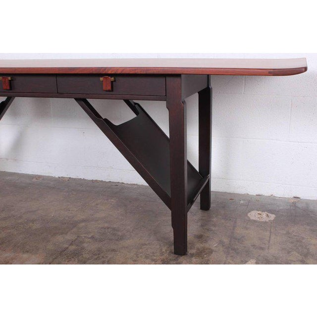 Mahogany Dunbar Console or Sofa Table by Edward Wormley For Sale - Image 7 of 11