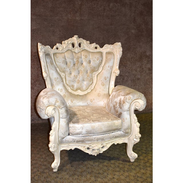 1980s Vintage Ornate Renaissance Style Sitting Chair For Sale - Image 13 of 13