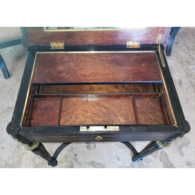 19th Century French Napoleon III Ladies Make-Up Table or Vanity For Sale - Image 4 of 13