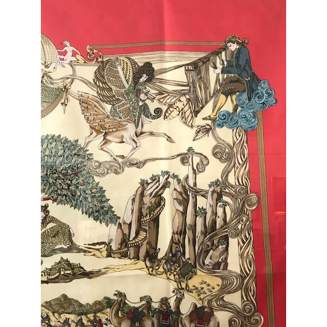 Hermes French Silk Scarf Framed Art For Sale - Image 5 of 7