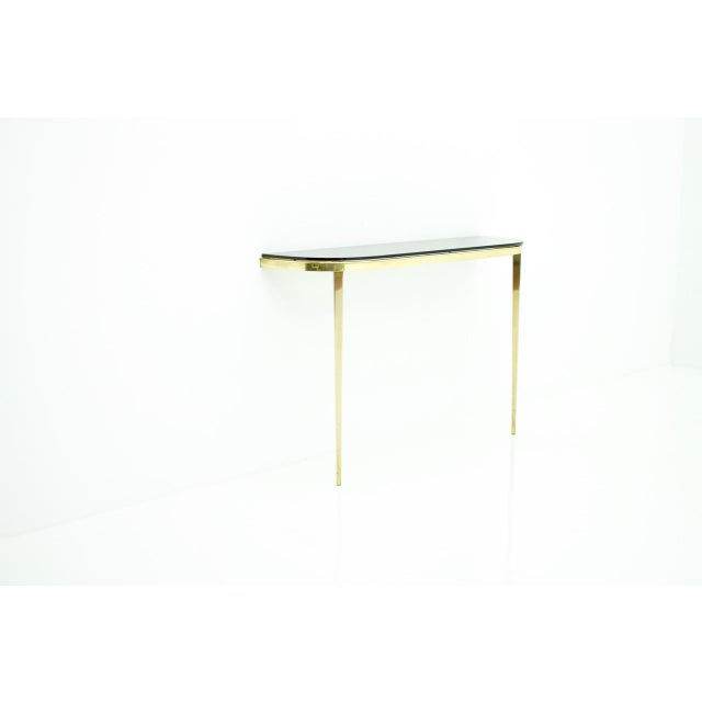 Solid Brass and Glass Wall Console, 1960s For Sale - Image 10 of 10