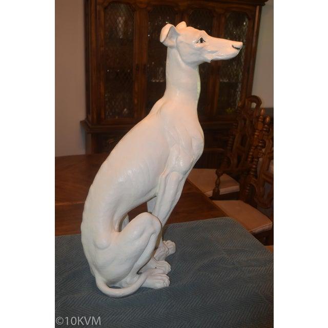 Ceramic Vintage Ceramic Life Size Greyhound Dog For Sale - Image 7 of 12