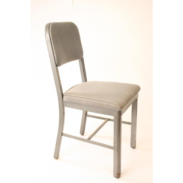 Vintage Industrial Gray Metal Office Chair Chairish
