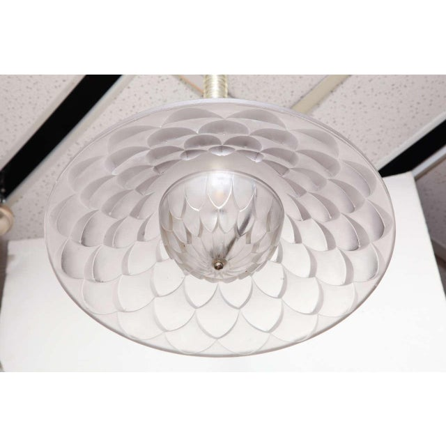 """R. Lalique """"Verone"""" Chandelier For Sale In New York - Image 6 of 9"""
