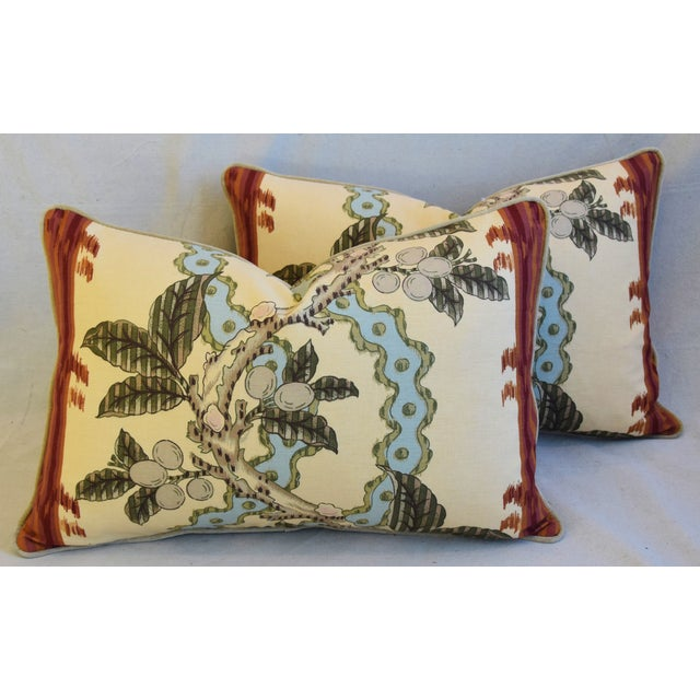 "Brunschwig & Fils Josselin Feather/Down Pillows 26"" X 17"" - Pair For Sale - Image 13 of 13"