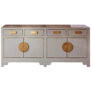Contemporary Gray Crackle Sideboard For Sale