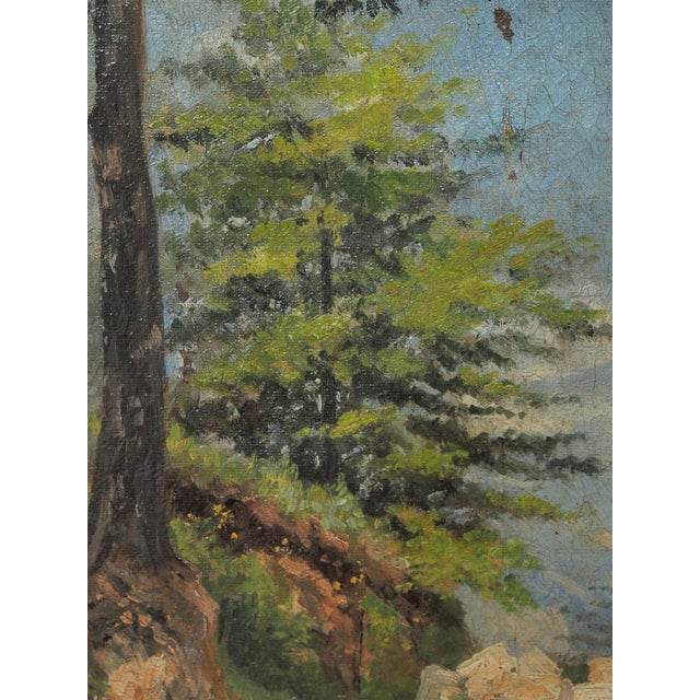 Oil on Canvas Landscape in a period frame For Sale - Image 4 of 6