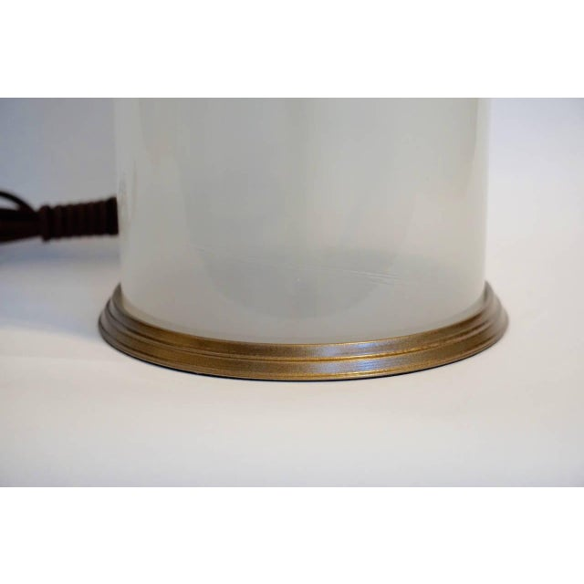 1950s 1950s Murano Opaline Table Lamp For Sale - Image 5 of 5