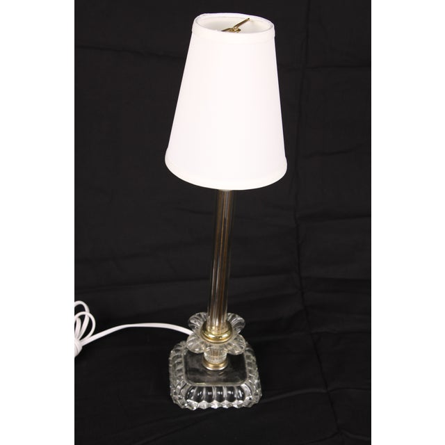 Hollywood Regency Glass Lamps - A Pair - Image 3 of 5