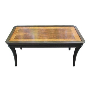 1930s Inlaid Wood Cocktail Table For Sale