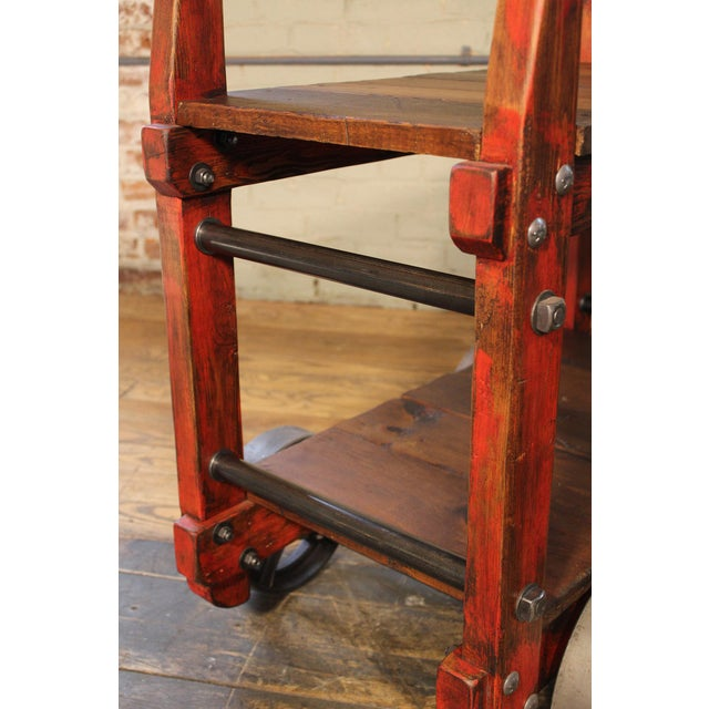 Industrial Bar Cart For Sale In New York - Image 6 of 12