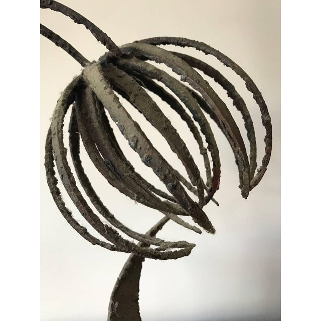 Black 1960s Brutalist Paul Evans Style Flowers Sculpture For Sale - Image 8 of 11