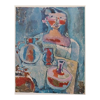 "1958 Paul Klee ""Girl With Jugs"", First English Edition Lithograph For Sale"
