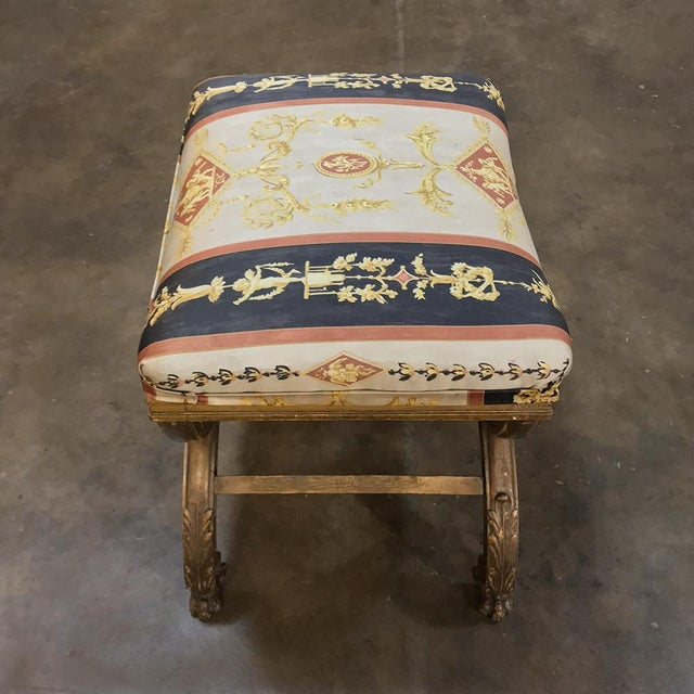 19th Century Giltwood Vanity Stool For Sale - Image 9 of 11