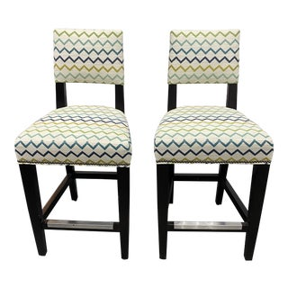 Lee Industries Custom Counter Stools - a Pair For Sale