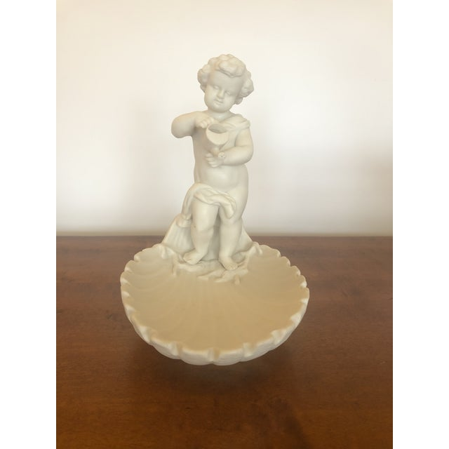 Parian Porcelain Shell Motif Dish With Sculptural Putti For Sale - Image 10 of 10