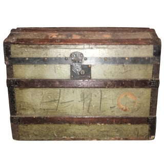 Antique Wooden Barrel Stave Trunk