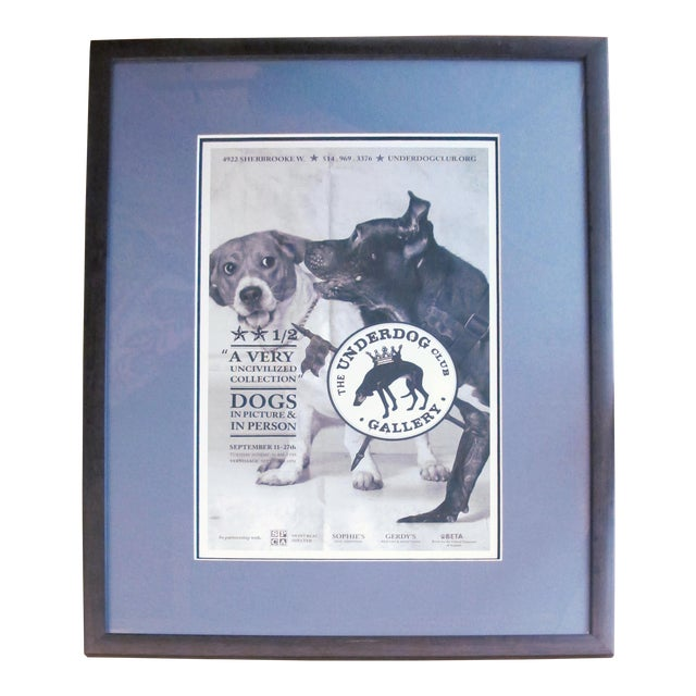 2014 Contemporary Montreal Poster, Underdog: Uncivilized Large (Framed) For Sale
