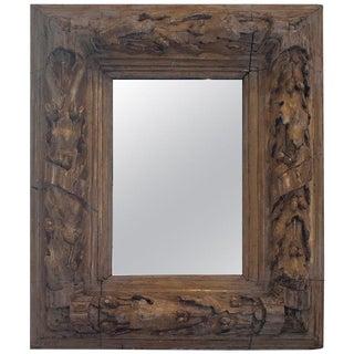 Gilt Carved Wood, Oak Leaf and Acorn Framed Mirror For Sale
