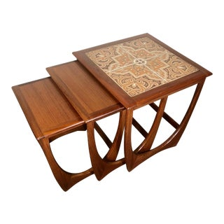 Mid Century Teak Nesting Side Table Set by G Plan For Sale