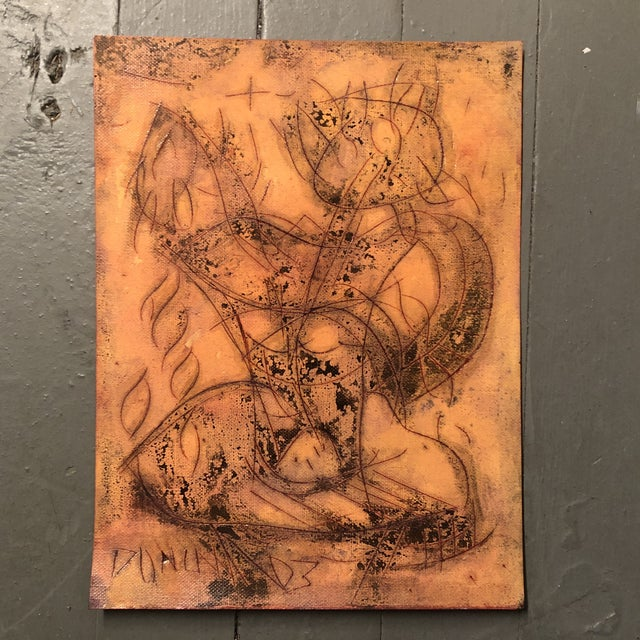 2000 - 2009 Original Vintage Peter Duncan Nude Abstract Encaustic Painting For Sale - Image 5 of 5