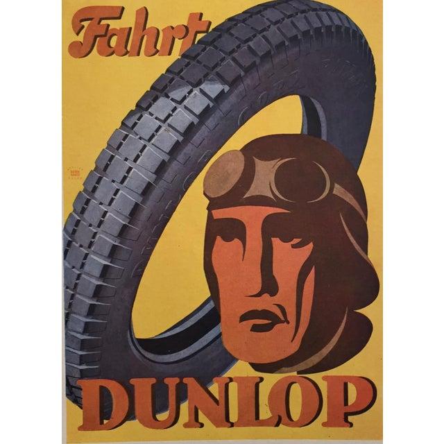 1920s Vintage German Dunlop Tire Poster - Image 2 of 2