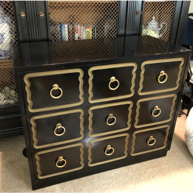 Hollywood Regency Vintage Dorothy Draper Espana Style Chest For Sale - Image 3 of 10