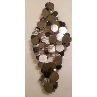 Fabulous Silver and Gray Metal Jere Raindrop Style Wall Art Decor Piece Preview