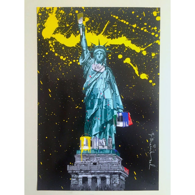 "Mr. Brainwash "" Statue of Liberty "" Authentic Lithograph Print Pop Art Poster For Sale - Image 11 of 12"