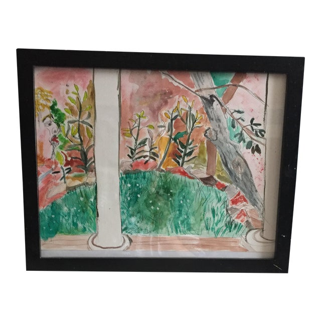 Contemporary Pen & Watercolor Painting - Image 1 of 6