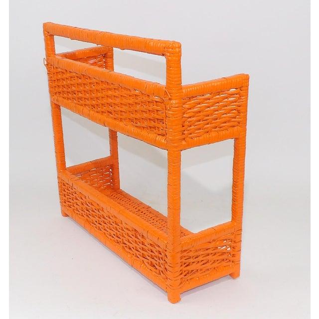 Orange Wicker Wall Shelf - Image 5 of 11