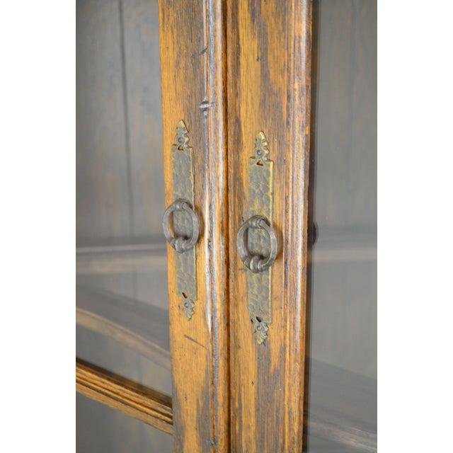 Ethan Allen Royal Charter Oak Corner Cabinet For Sale - Image 9 of 13