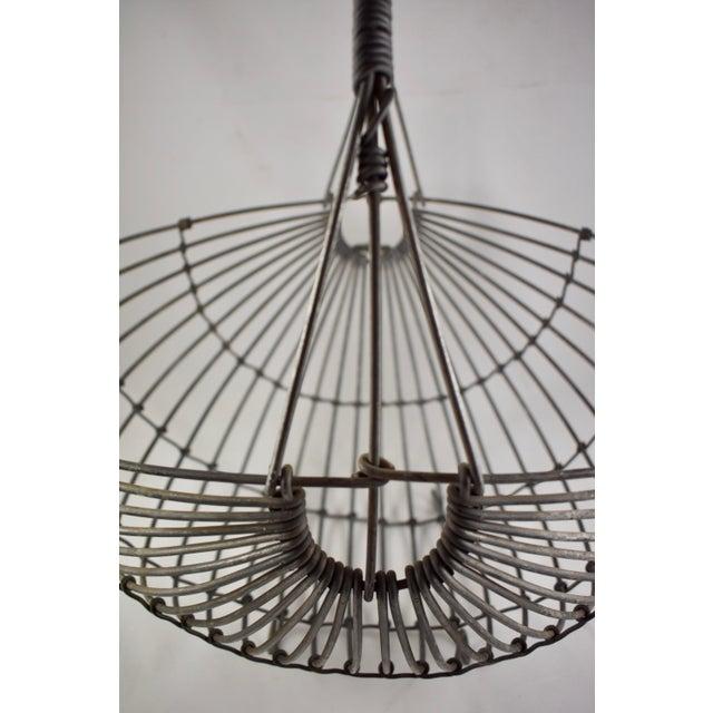 1970s Karl Howard Galvanized Steel Handmade Art Basket, Signed For Sale - Image 10 of 13