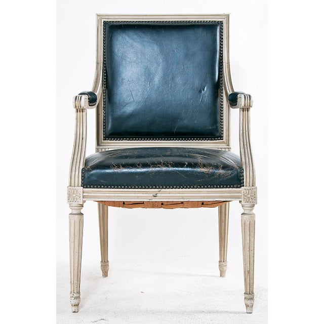 Louis XVI Style Painted Armchairs - A Pair - Image 4 of 9